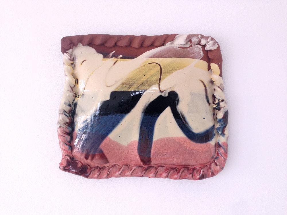 Untitled (pasty for Tresabenn studio), 2016, slipware,27 x 24cm