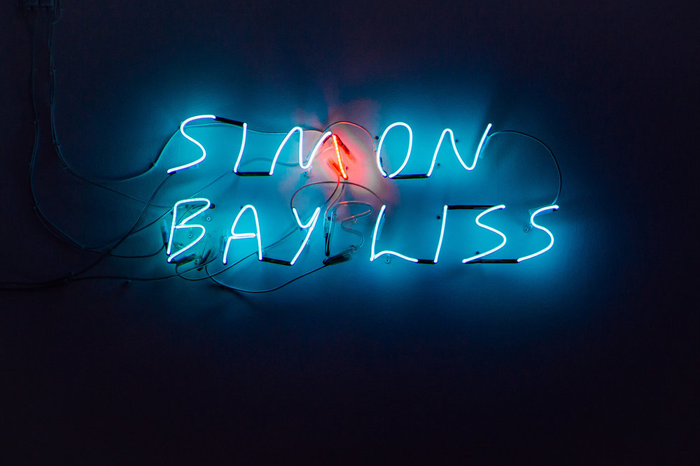SIMON BAYLISS / SIN ON GAY BLISS , 2016 – 18, neon, fabricated by Nick Maylon