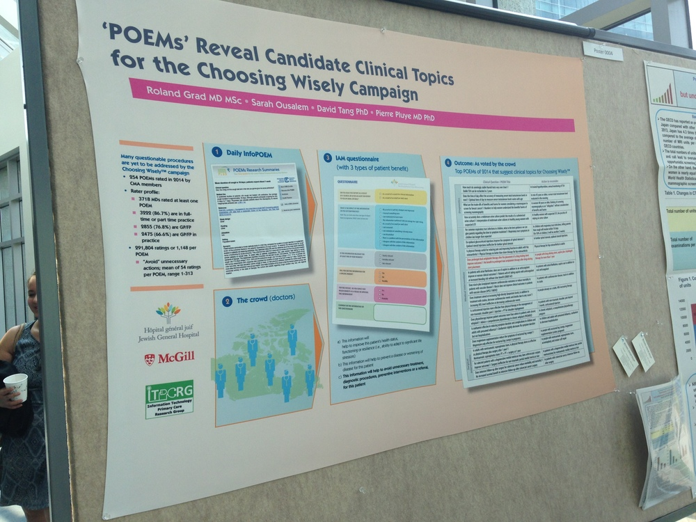 Dr Grad's poster at PODC2015