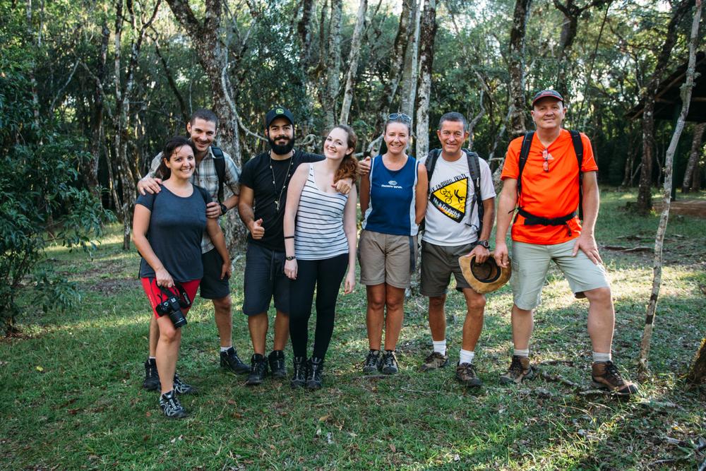Da esquerda para direita: Sabrina, Laércio, Eduardo, Mônica, Lisiane, Paulo e Evandro.