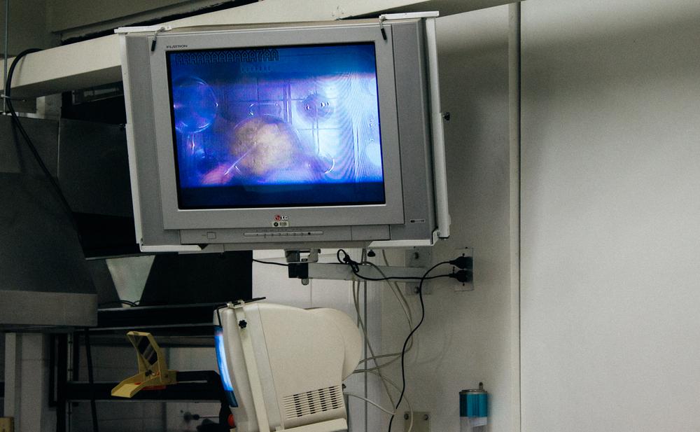 Câmera que mostrava a penal de cima