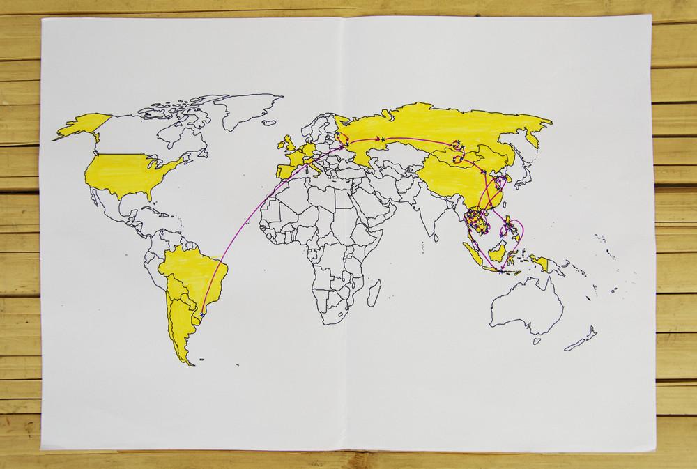 Em amarelo, por onde já andamos