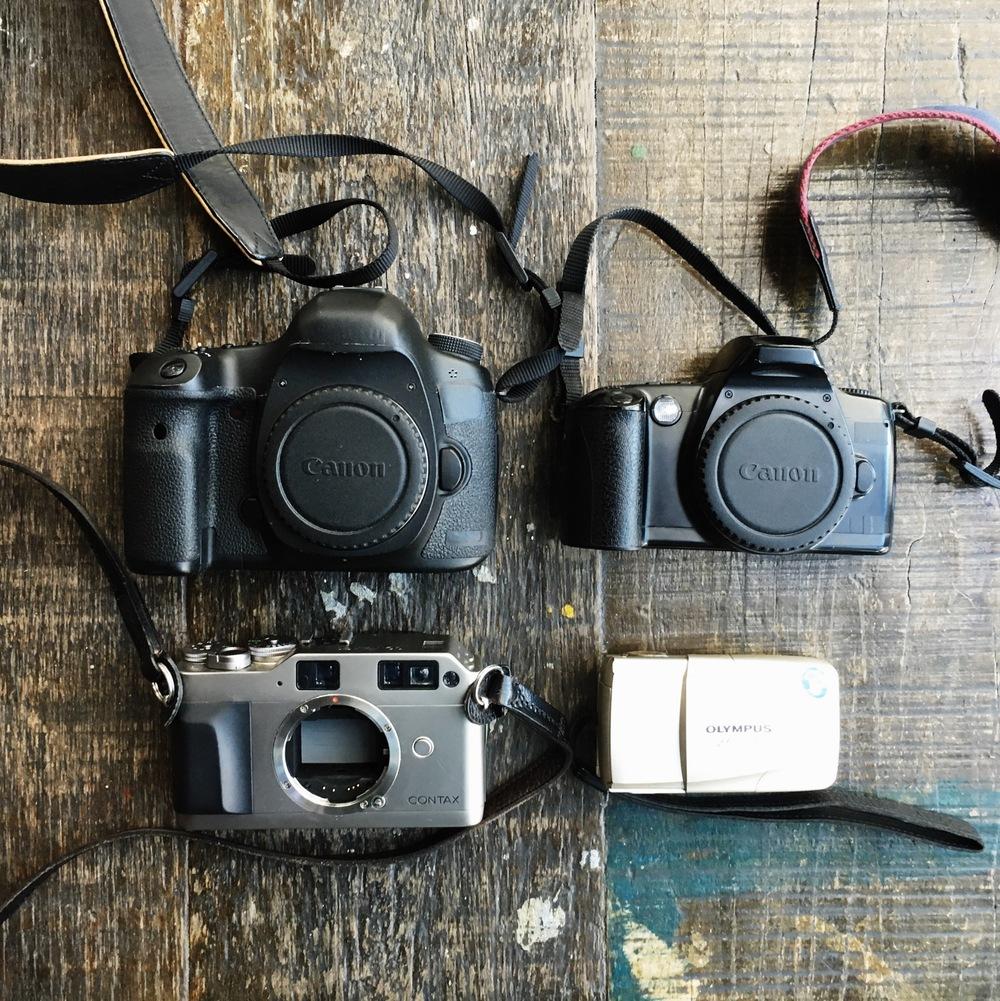 cameras equipamento de fotografia de viagem