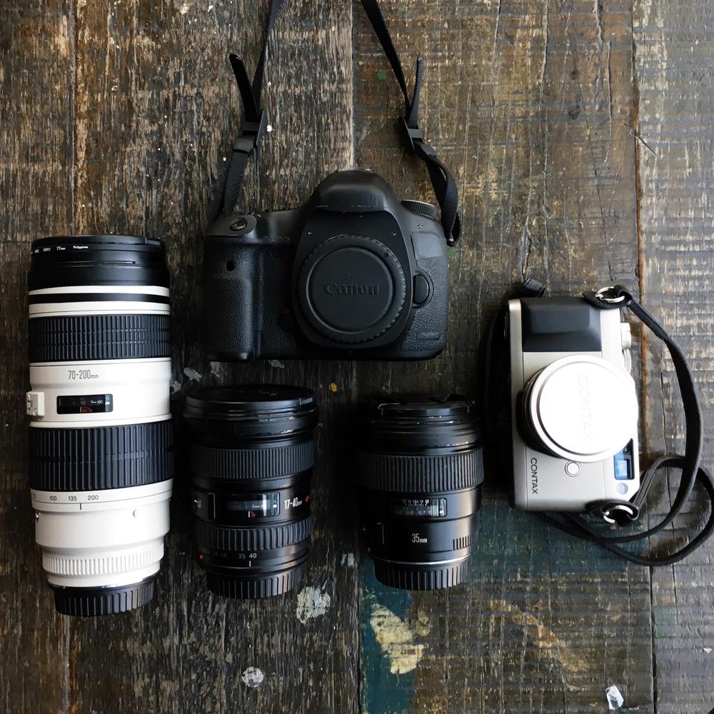 equipamento de fotografia de viagem
