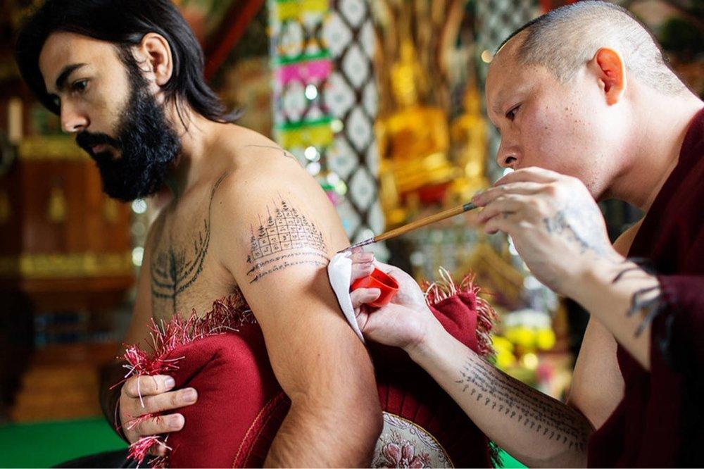 Sak Yang, a tatuagem da Tailandia