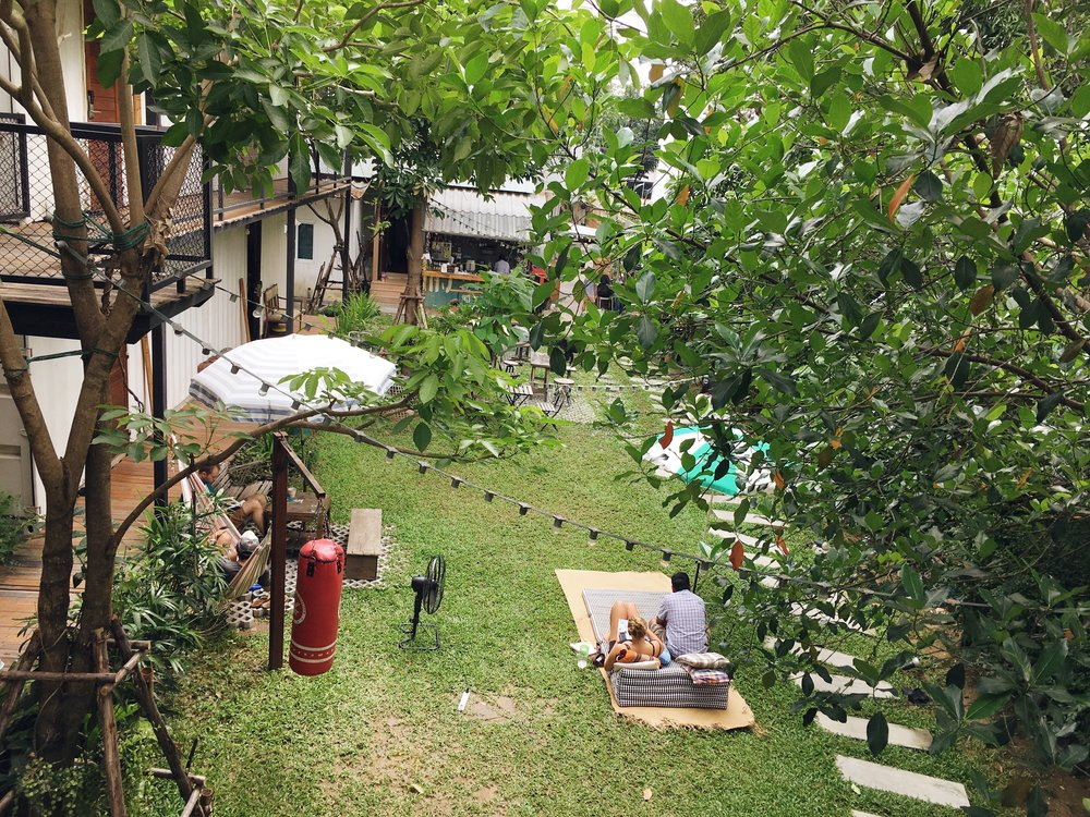 """Tucked away in Ari neighbourhood, our yard is a little oasis for those who want to relax and escape from busy Bangkok."""