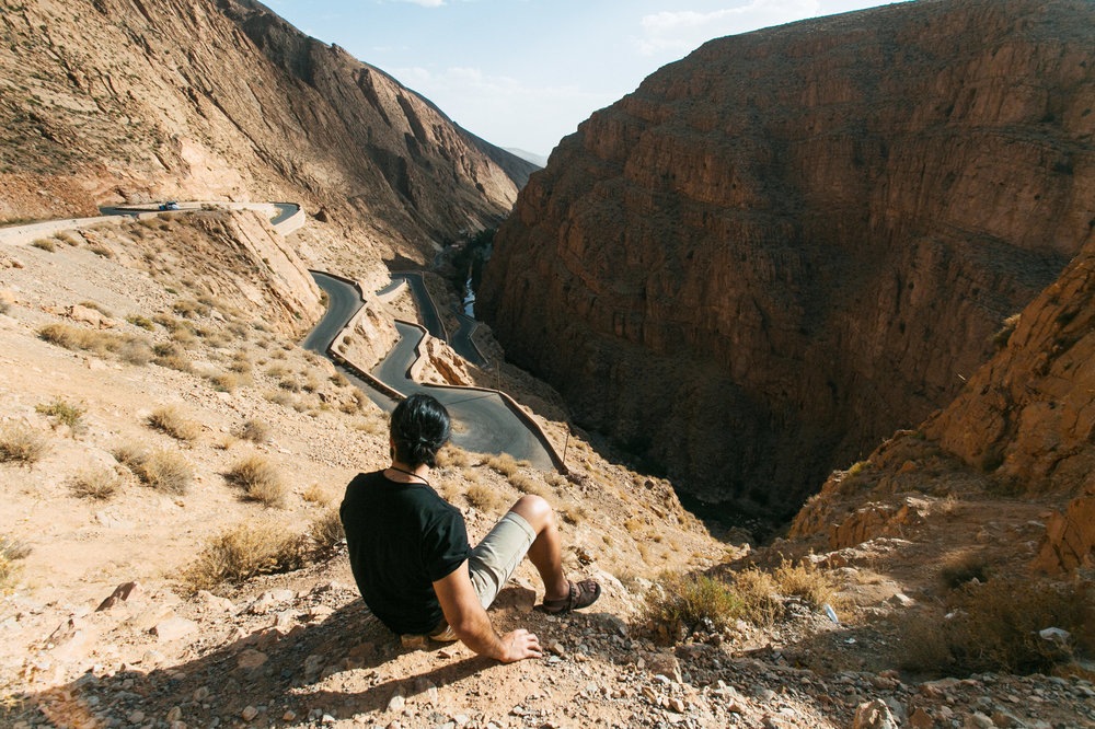 Eduardo vivendo perezosamente no Marrocos