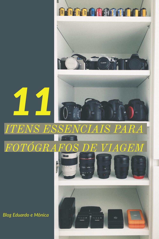 11 Itens Essenciais para Fotógrafos de Viagem
