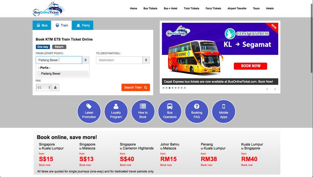 ir tailandia malasia trem