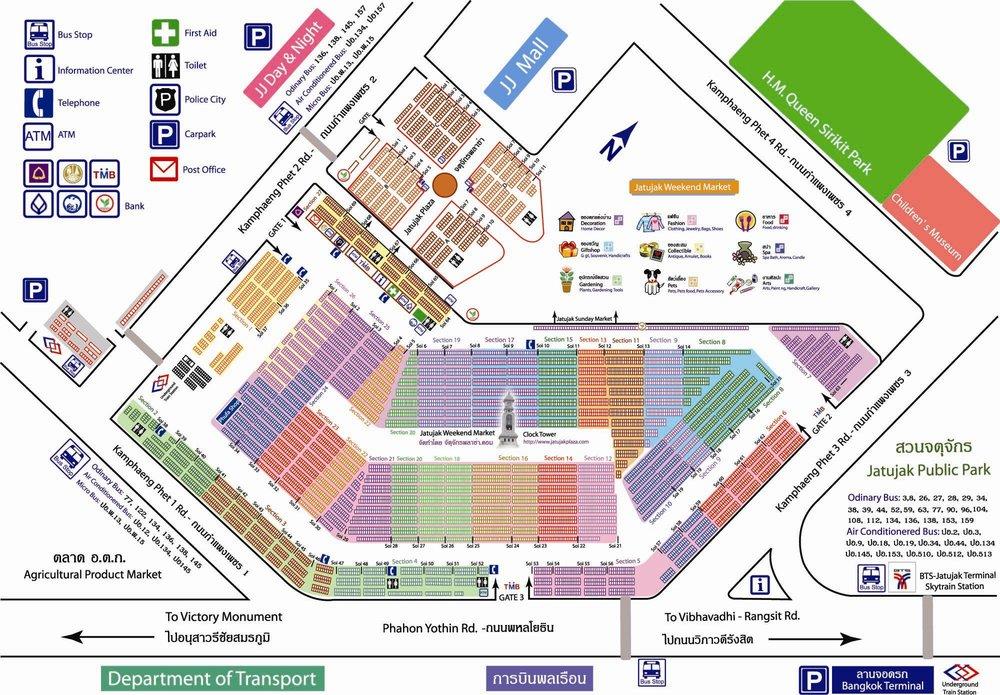 Mapa do Chatuchak