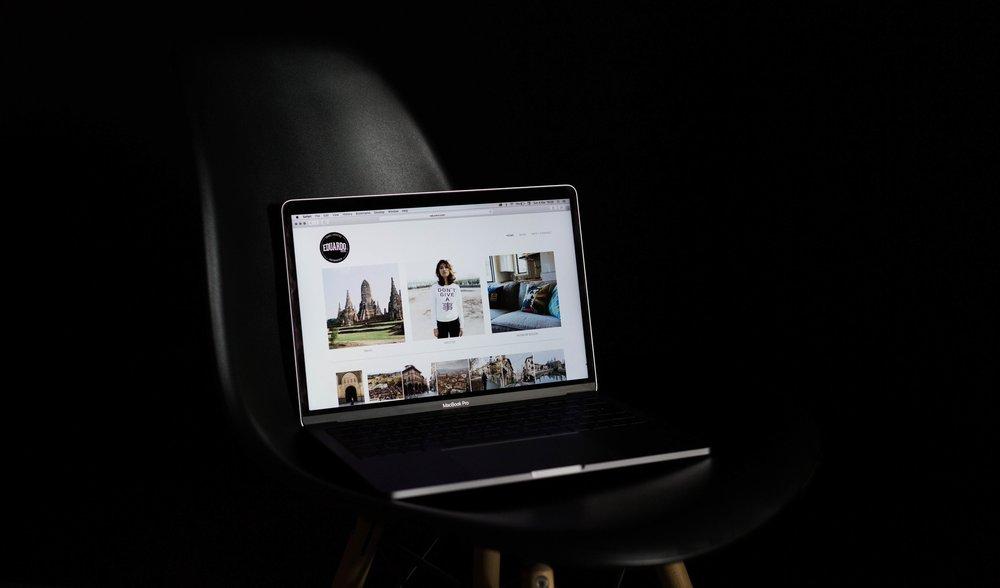 montar portfolio fotografia online