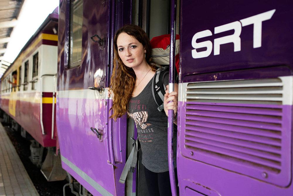 Trem de Bangkok para Chiang Mai