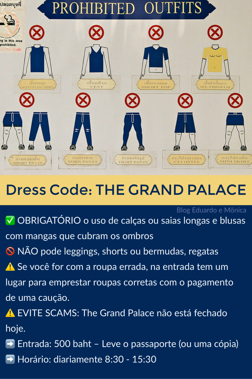 Dress Code para o Grand Palace