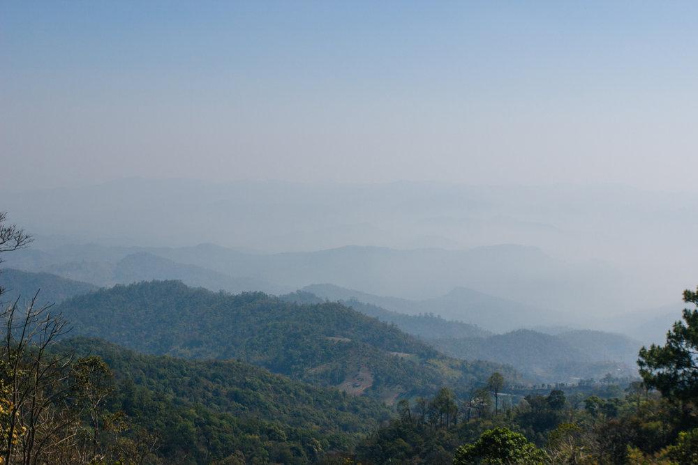 Viewpoint em fevereiro na temporada de queimadas