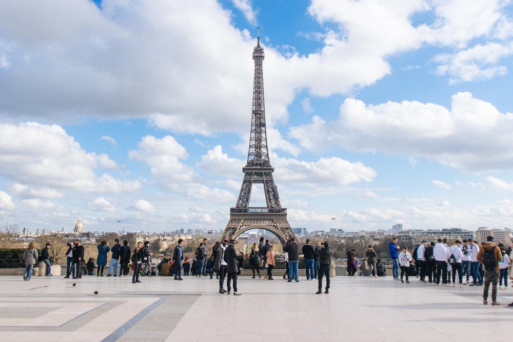 Torre Eiffel a partir do Trocadero