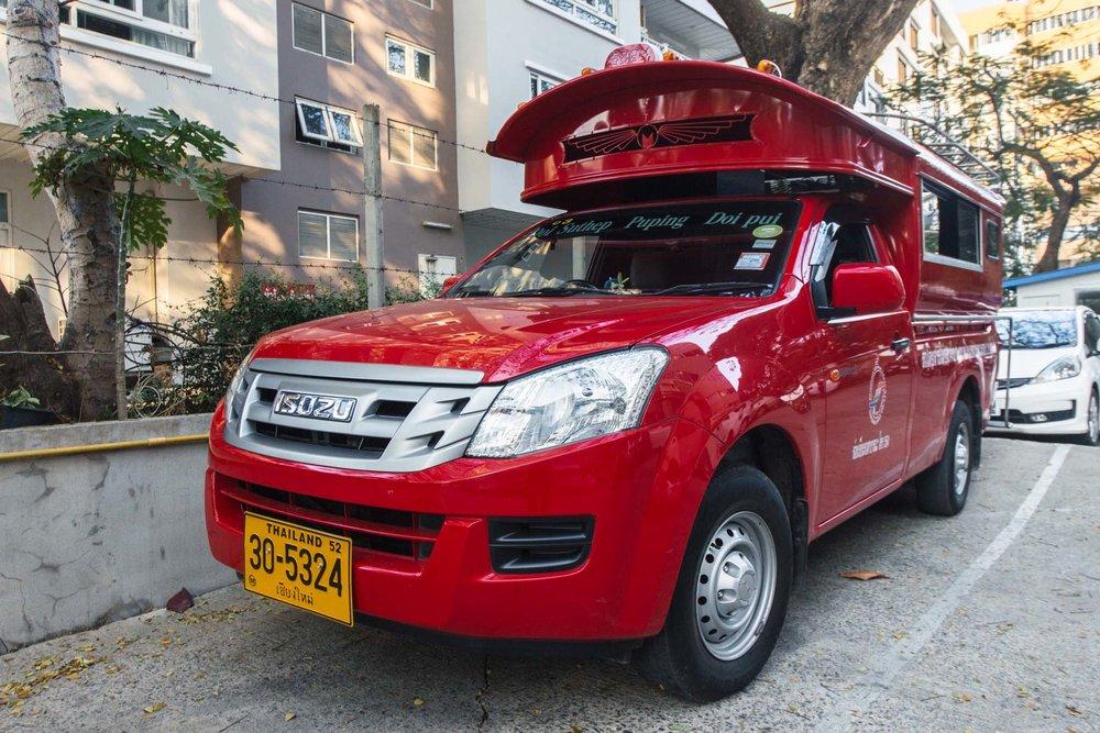 Red truck de Chiang Mai