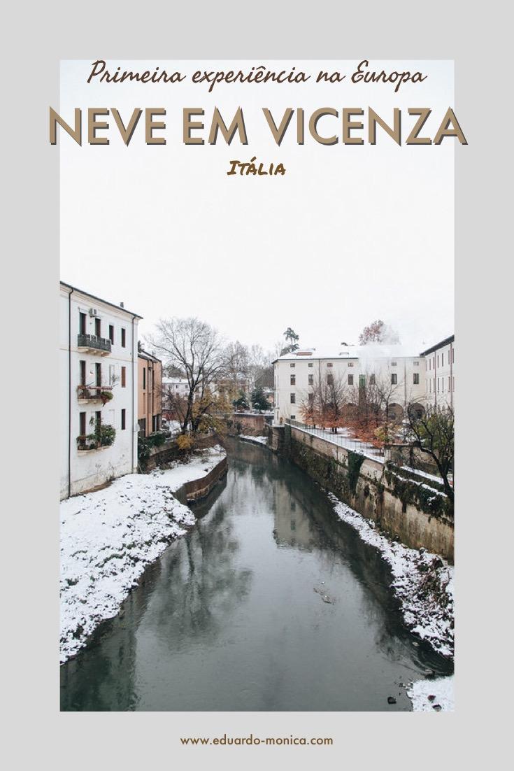 Neve em Vicenza: Minha Primeira Experiência na Europa
