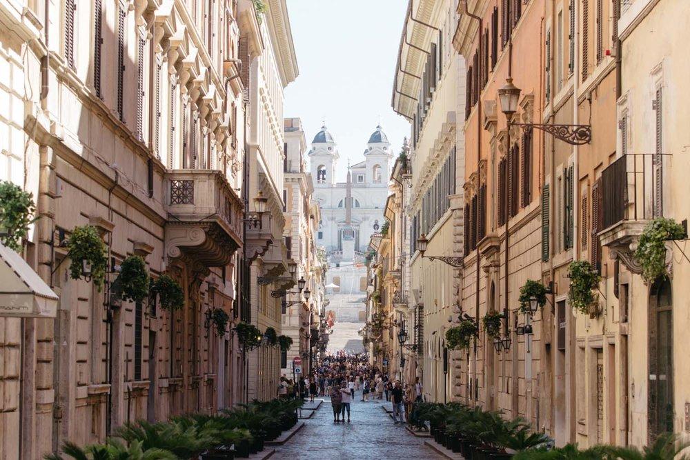 Piazza di Spagna a partir da Via Condotti