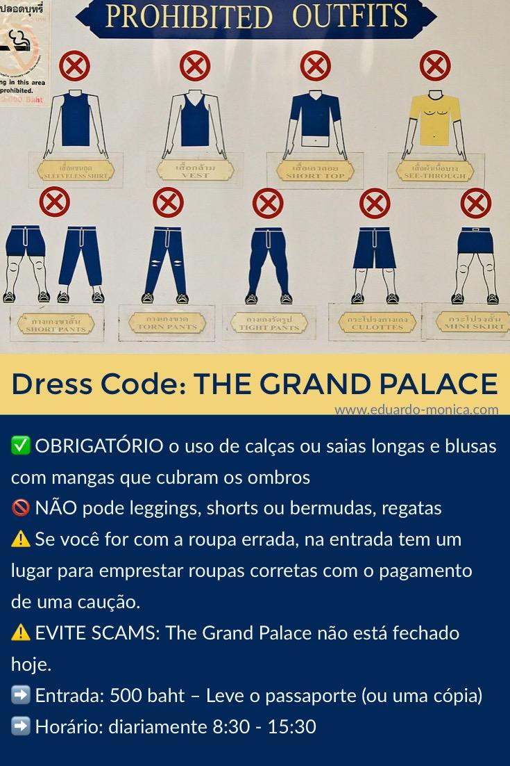 Roupa pra ir no Grand Palace em Bangkok