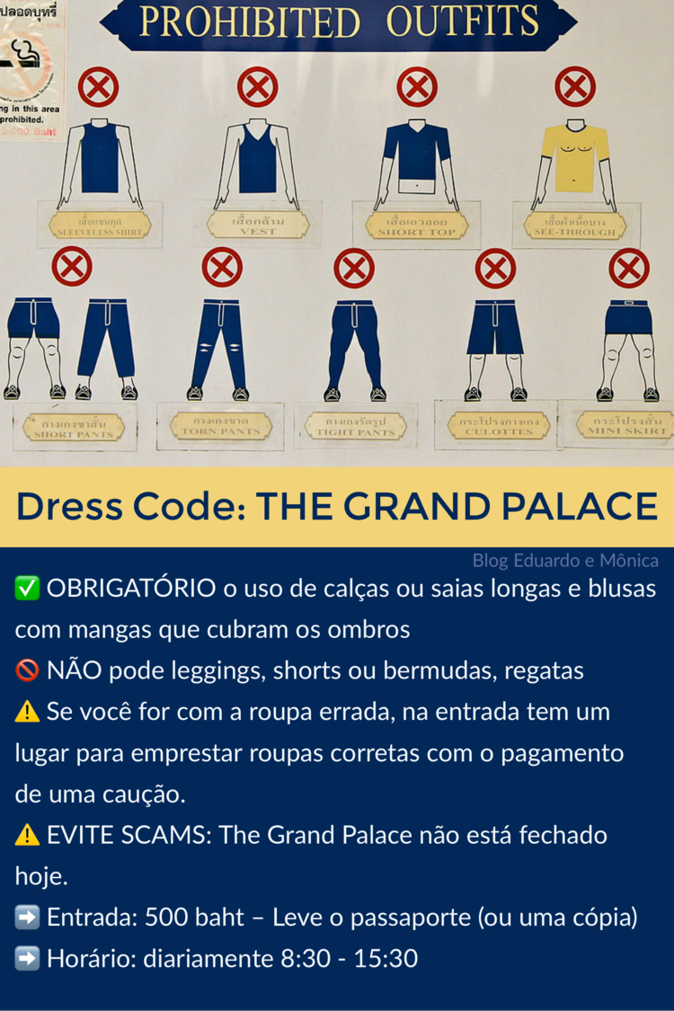 Dress Code templos da Tailândia