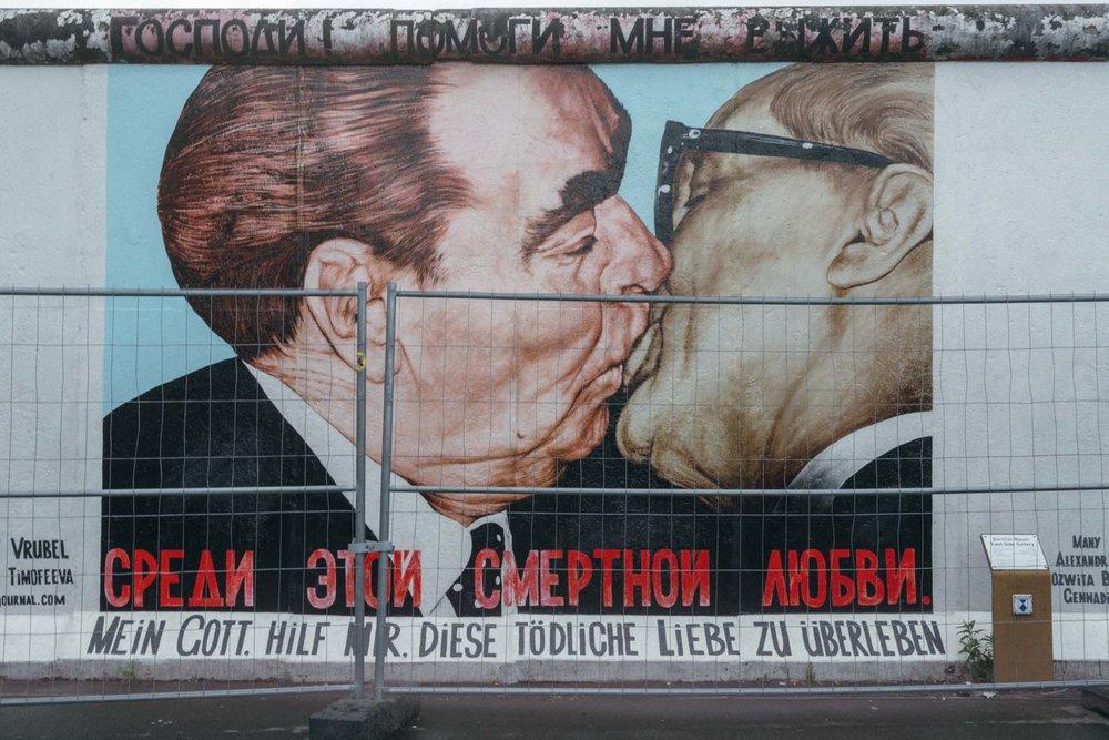 Muro de Berlin na Esat Side Gallery