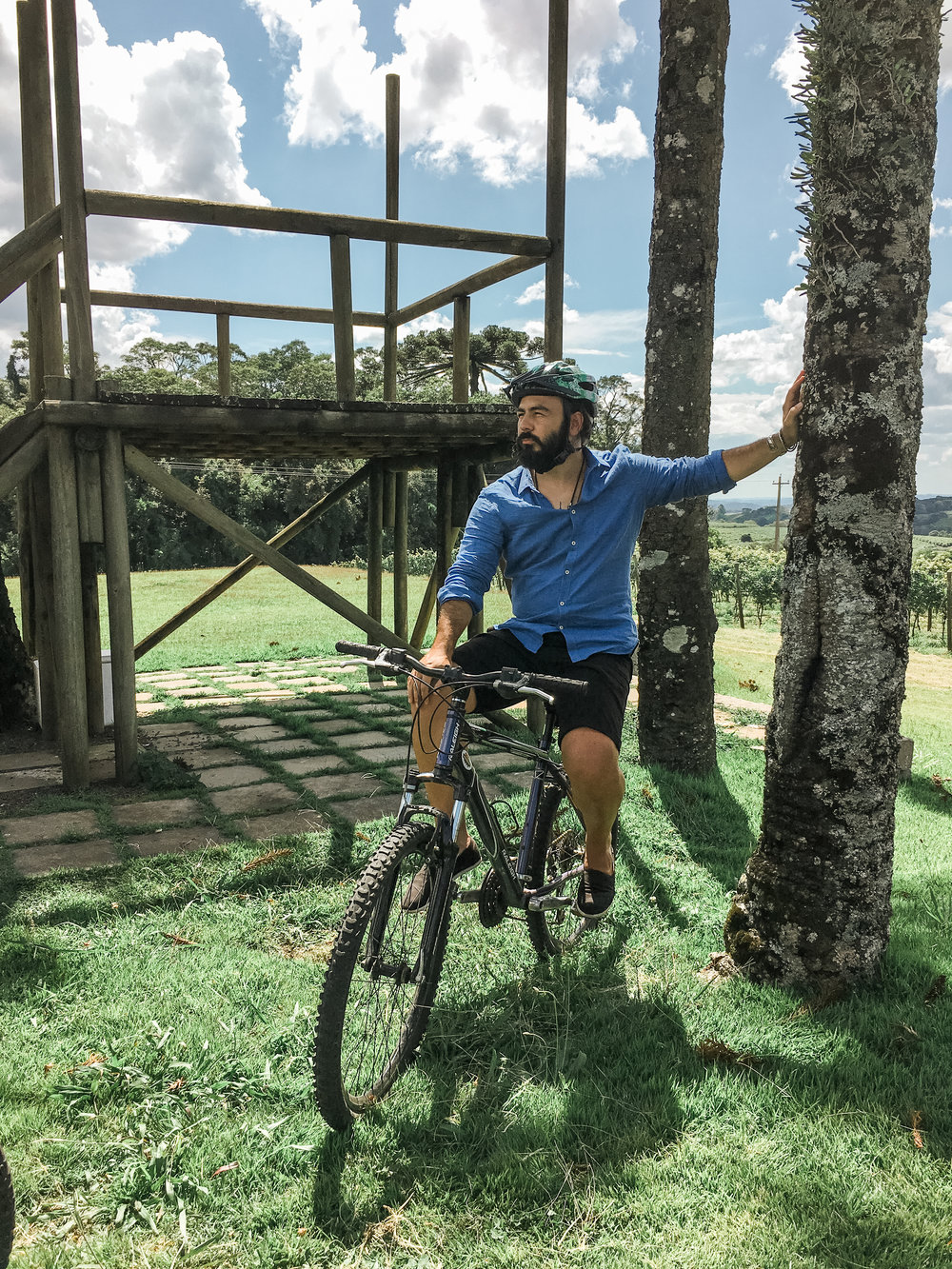 passeio bicicleta serra gaucha vinicola