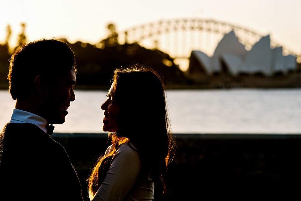 Engaged couple captured in Sydney