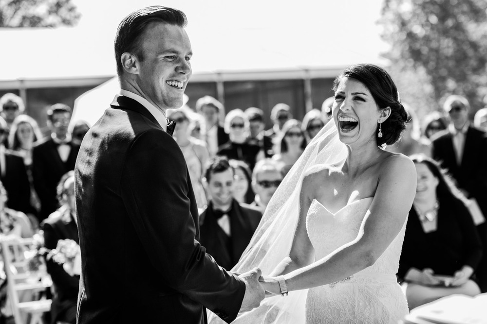 Joyous couple celebrate their vows at Terrara House Estate