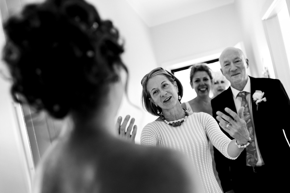 The bride's entrance - Northern Beaches wedding