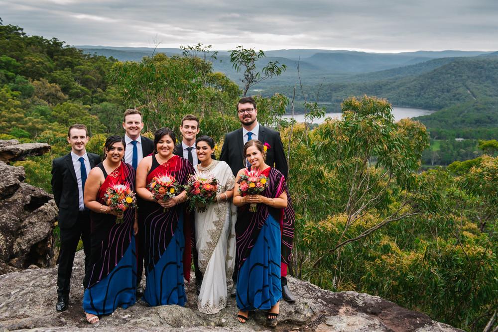 Bridal party at Kangaroo Valley Bush Retreat