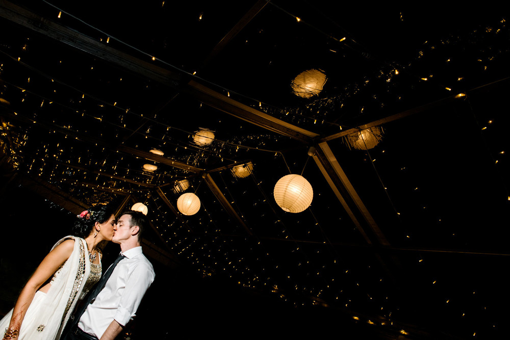 Couple at wedding reception in the Southern Highlands