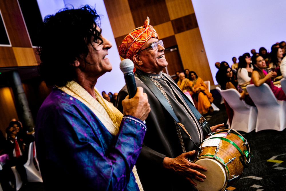 Traditional Indian music during Hindu wedding party