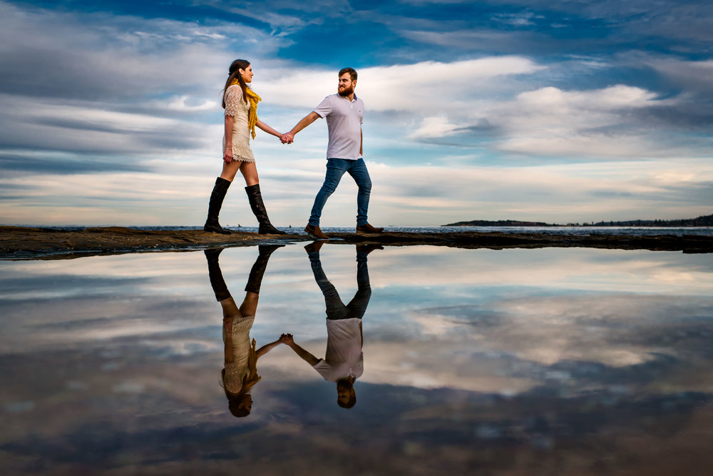 Beach engagement session Sydney