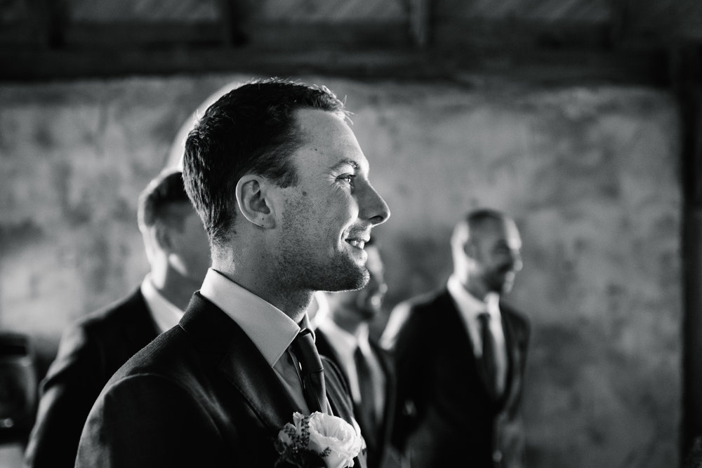 Groom at ceremony