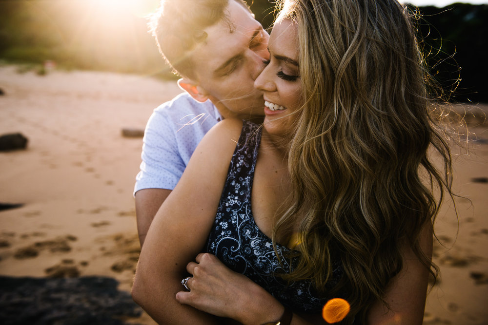 Engagement session on Sydney's beaches