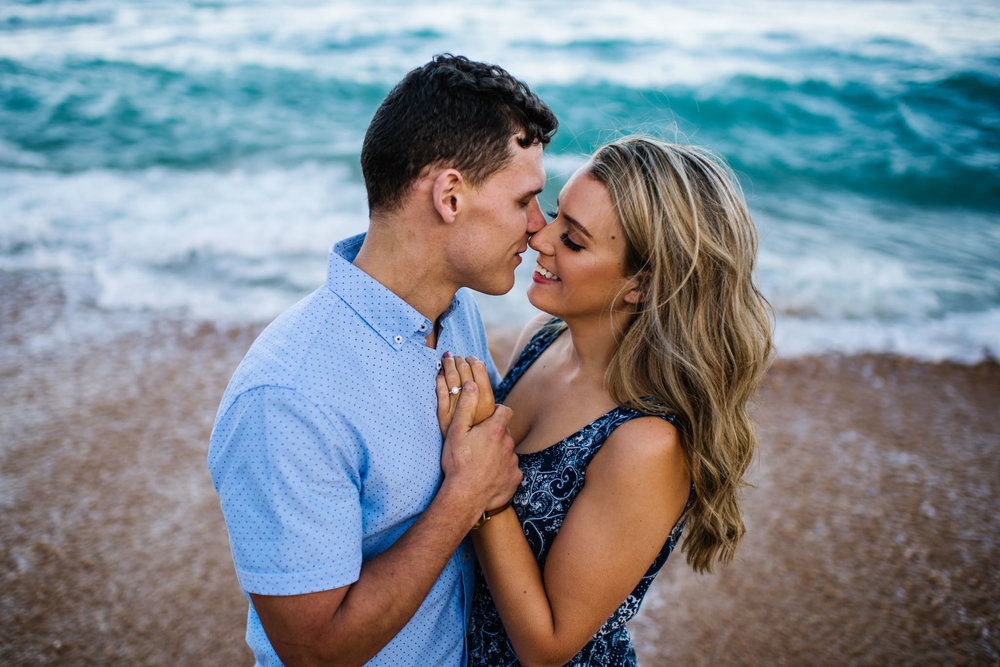 Beach engagement session in Sydney