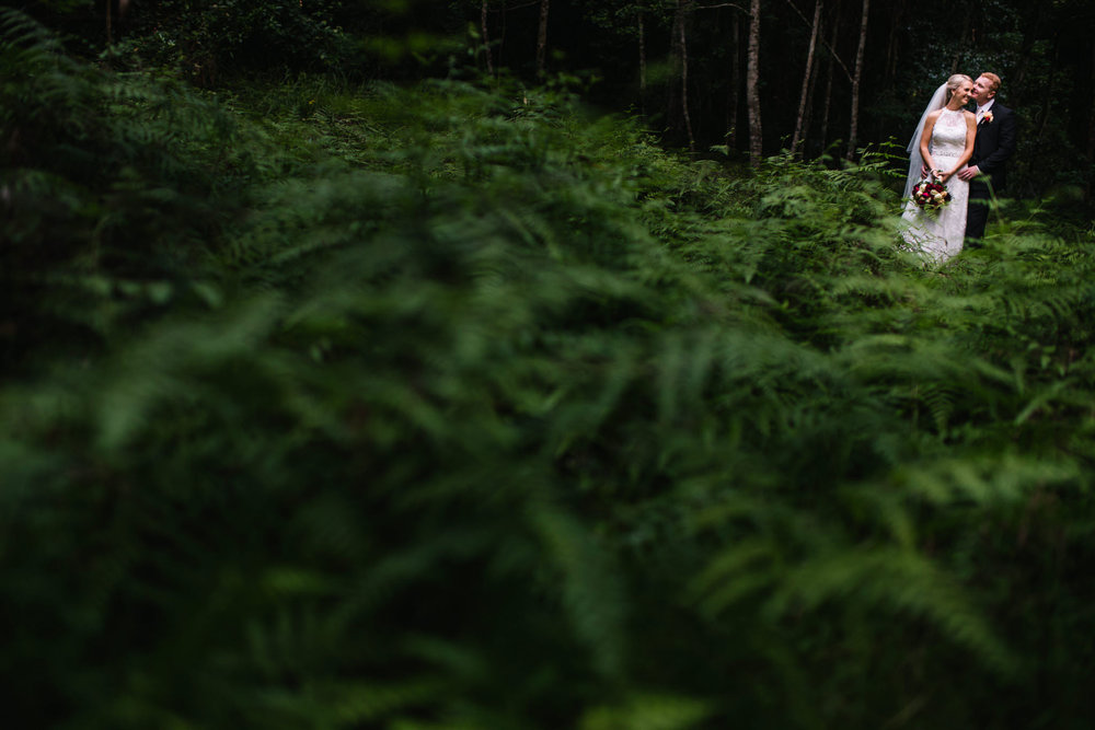 Bridal portrait in rainforest at Greenfield farm