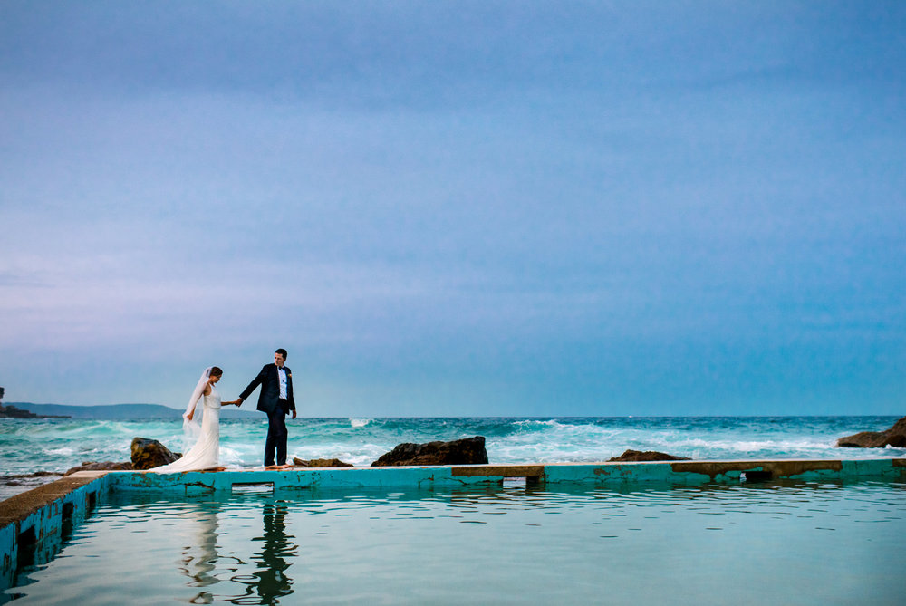 Northern Beaches wedding photographer - Whale Beach rock pool