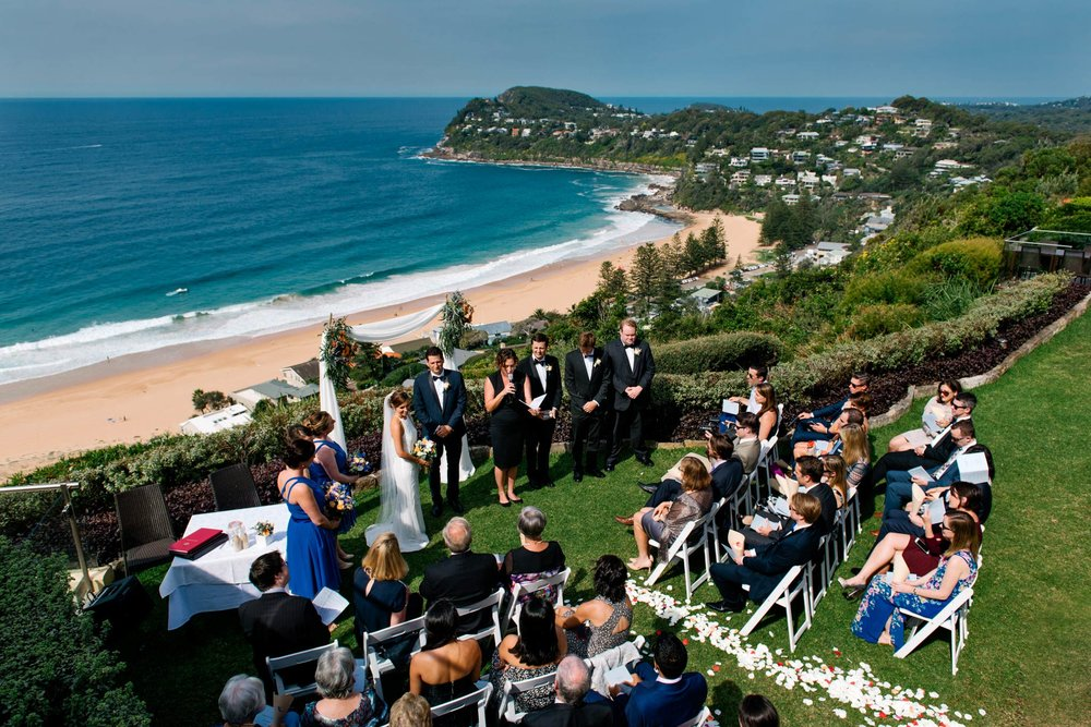 Wedding ceremony at Jonah's Whale Beach