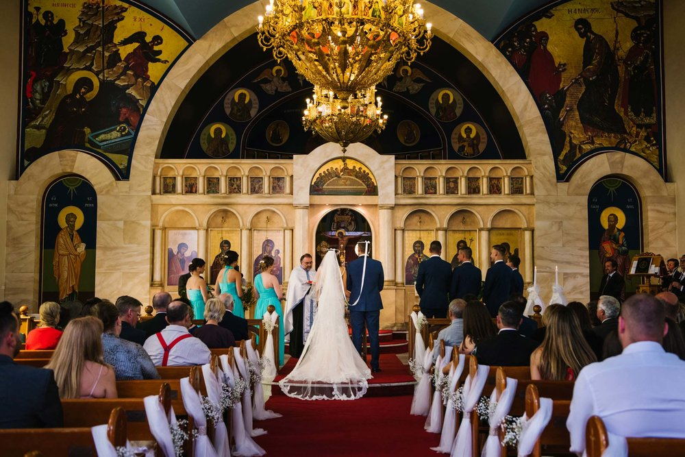 Wedding ceremony in the beautiful  St. Gerasimos Greek Orthodox Church in Sydney
