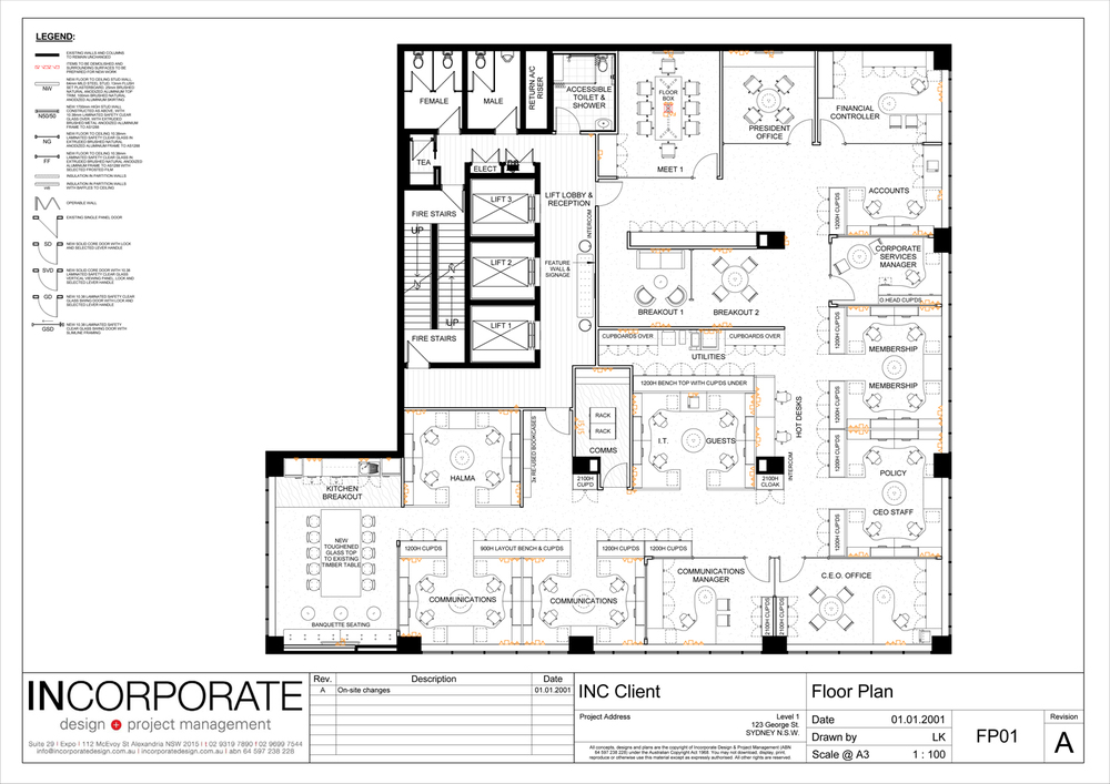 Incorporate Technical Design Commercial Office Fitouts Sydney Interior Design Project