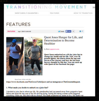 Transitioning Movement 4