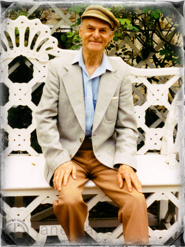 My wonderful father - passed away at 82 - I so regret not taking a series of professional images of him.  This image is created with film and taken in Bath, England circa 1998 - a casual snapshot.