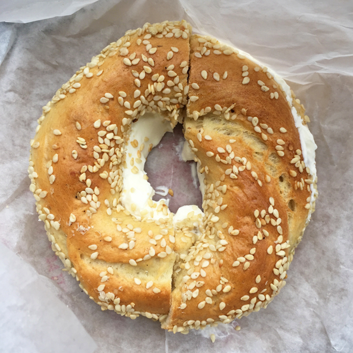 Fairmont Bagel - The Fairmont Bagel from Canada was one of the MOST memorable bagels I have ever eaten! It's the perfect portion and size for a bagel with cream cheese, especially in comparison to the typical NY/NJ bagels (usually double the size of the dough and amount of cream cheese). I usually don't like too much sesame seeds on food usually either, but didn't mind this at all. It was the perfect chewy-crunchy-yet-soft bagel indeed. Anyone visiting Montreal, please please go, get, and eat Sesame-seed Bagel.
