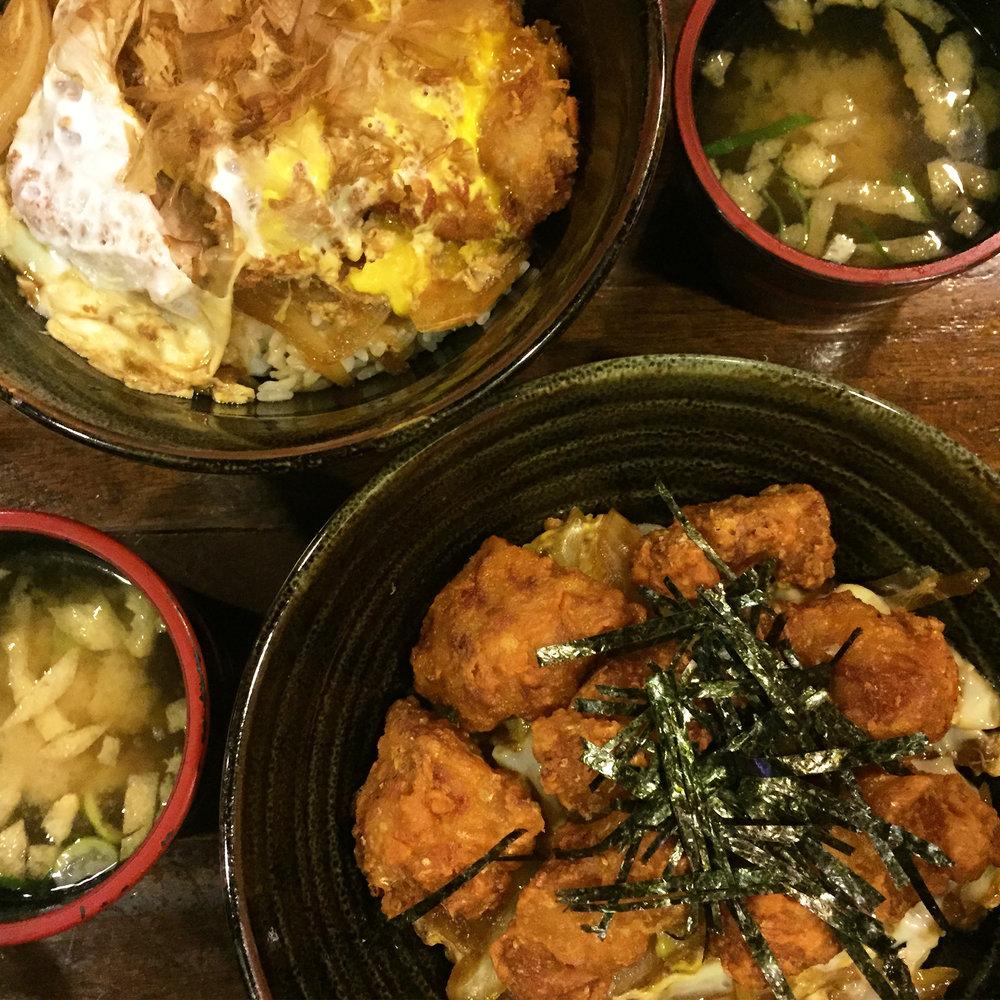 홍대 돈부리(Hongdae Donburi) - My cousin set out to show me all of her favorite restaurants in Korea, and she has definitely set the bar! This was one of my favorite places that she took me too. We enjoyed some