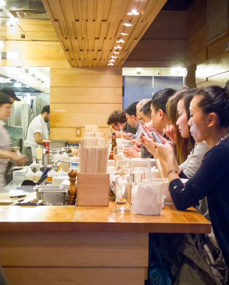 Slurping and Phones at Momofuku Noodle Bar