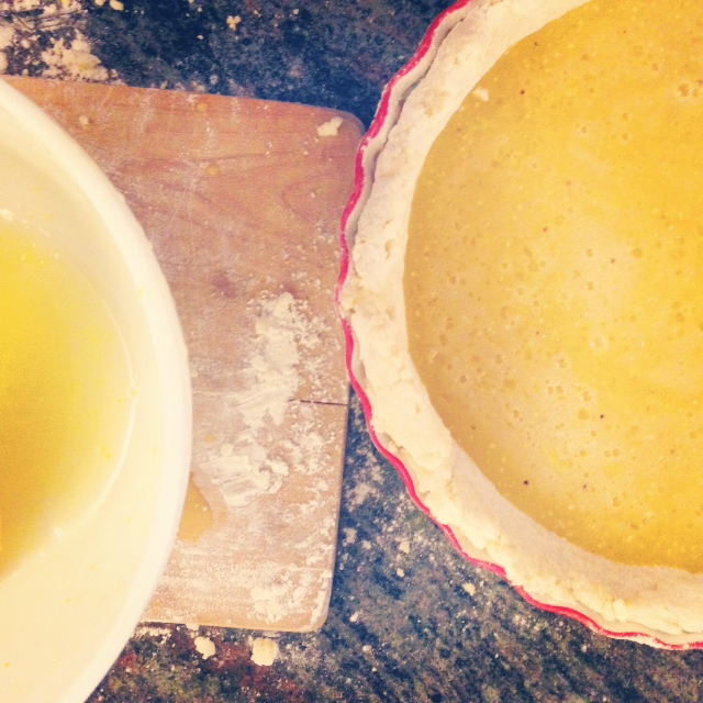 Instagram of Kentucky chess pie in the making