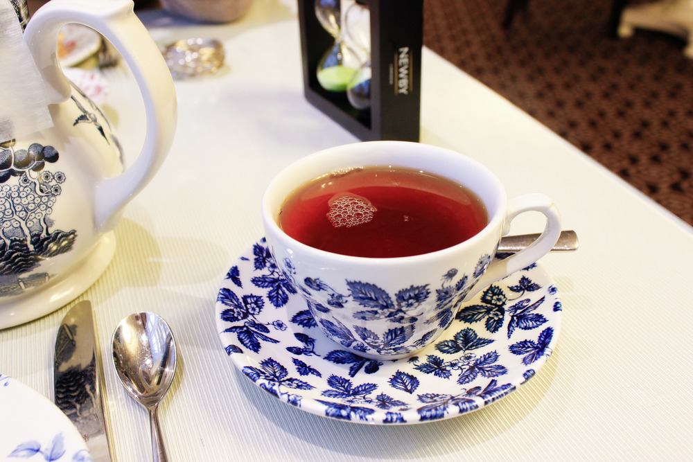A cup of English Breakfast tea at High Tea