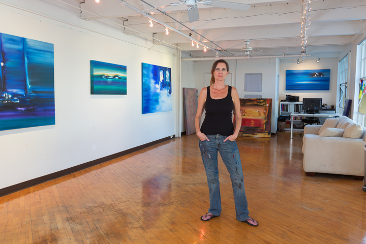 Jill Joy in Her Studio