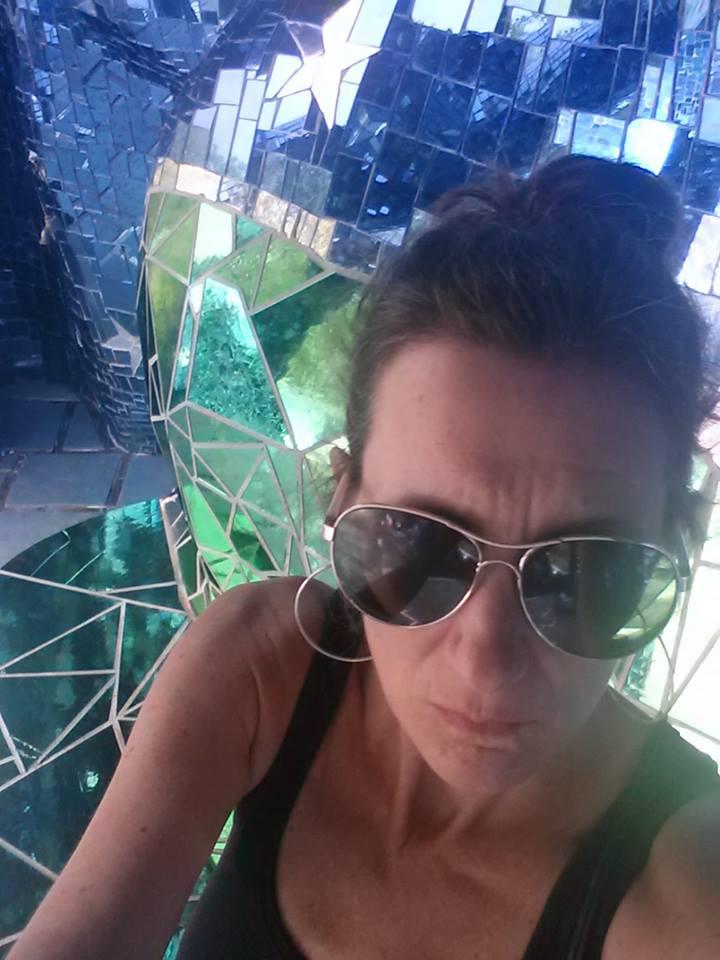 Jill Joy - Selfie @ Nicki de Saint Phalle's Tarot Garden in Tuscany, Italy
